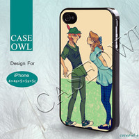 Phone cases, iPhone 5 case, iPhone 5S case, iPhone 5C case, iPhone 4 case, iPhone 4s case, Peter Pan and Wendy, Case for iPhone-40036