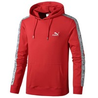 PUMA autumn and winter models men's casual long-sleeved hooded sweater Red