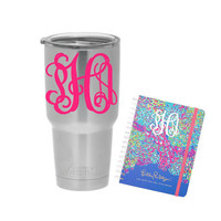 Monogram decal - Car decal - Monogram Cup - Vinyl decal -Yeti decal - Planner decal - Monogram Sticker - Name Decal