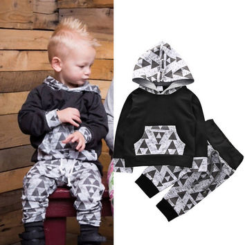 Toddler Kids Baby Boys Girls Clothes Set Animal Hooded Tops Hoodies Long Sleeve Pants Outfit Cotton Clothing 2PCS Set