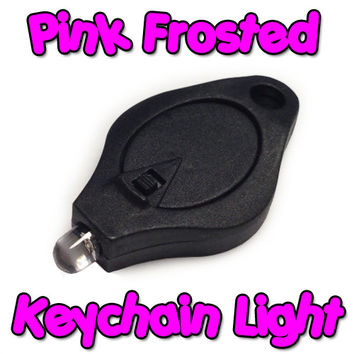 Pink Frosted Keychain Light