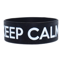 Keep Calm And STFU Rubber Bracelet | Hot Topic