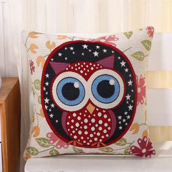 Cartoon Handmade Owl Home Decor Pillow Decorative Throw Pillows Cute Drawing 22