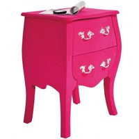 NEW! Frolic Flocked Pink Bedside Table  |  Bedside Tables  |  Tables  |  French Bedroom Company