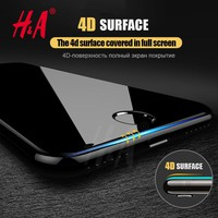 H&A 4D Round Curved Edge Tempered Glass For iPhone 8 8 Plus 7 7 plus Premium Screen Protector