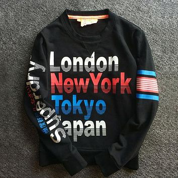 Superdry Fashion Print Top Sweater Pullover