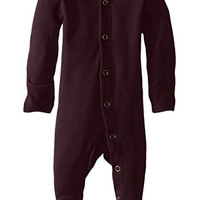 L'OVEDBABY Organic Eggplant Gloved Sleeve Overall