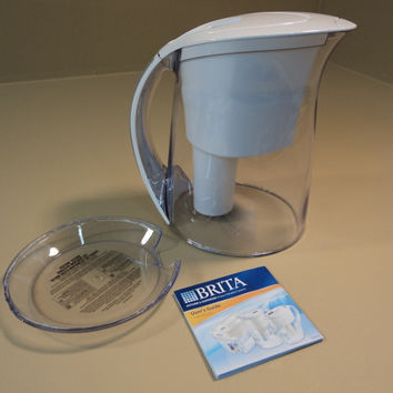 Brita Water Filtration System Oceania Pitcher Easy Fill Lid 10 Cups OB48 OB03 -- Parts/Not Working