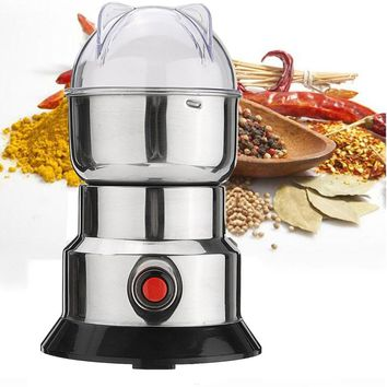 Electric Herbs Spices Nuts Coffee Bean Mill Blade Grinder With Stainless Steel Blades Household Grinding Machine Tool Drop Ship