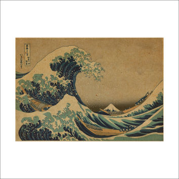 Waves of Okinawa individuality creative household adornment wall stickers on the wall SM6