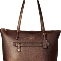 COACH Womens Taylor Tote in Metallic Leather