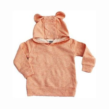 Young and Free Kids Terry Bear Ear Sweatshirt