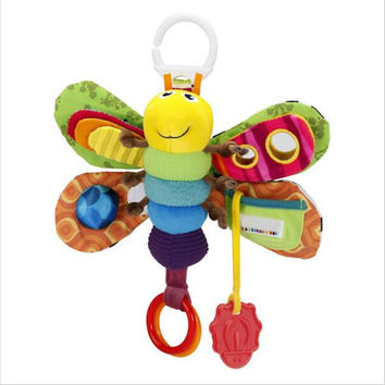 Baby Girl Boy 0-12 Month Toys Stroller Bed Hanging Butterfly Bee Handbell Rattle Mobile Teether Education Stuffed Plush Kid Toys