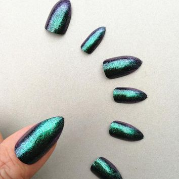 Galaxy Chrome Cat Claw Manicure Nail Kit - Maleficent