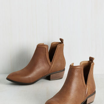 Next Door Nature Bootie in Chestnut | Mod Retro Vintage Boots | ModCloth.com