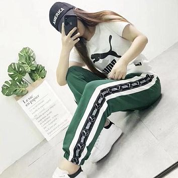 PUMA Woman Men Fashion Sport Pants Trousers Sweatpants