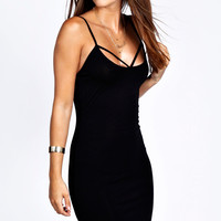 Jane Strappy Front Bodycon Dress