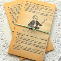 Vintage Book Pages. Polly's Homemaking Pointers. Retro Housewife. Book Illustration. Mixed Paper. Junk Journal Paper. Art Journal Page.