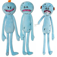3Styles Rick and Morty 25cm Happy Sad Angry Meeseeks Stuffed Plush Toys Dolls For Kids Gift