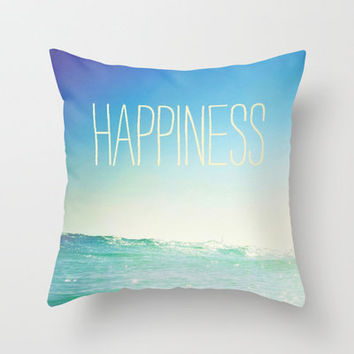 beachy happiness Throw Pillow by Taylor St. Claire | Society6