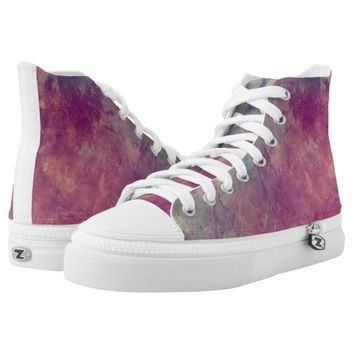 Abstract painting printed shoes