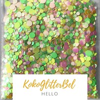 Holographic Glitter Mix Dots - Hello