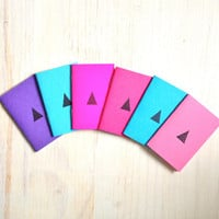 Tiny Journals: Notebooks, Neon, Geometric, Kids, Fun, Teen, Party, Purple, Pink, Blue, Small Notebooks, Unique, Gift, Stocking Stuffer