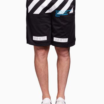 Mesh short from the S/S2016 Off-White c/o Virgil Abloh collection in black
