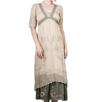 Nataya 40007 Women's Vintage Titanic Tea Party Dress in Sage