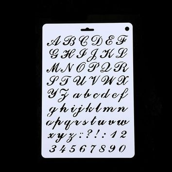 Letter Alphabet Number Layering Stencils Painting Scrapbooking Paper Cards Craft