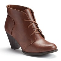 sugar Women's Heeled Lace-Up Ankle Booties