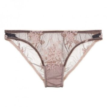Buy ID Sarrieri luxury lingerie - ID Sarrieri Innamorata Low Waist Brazilian Brief  | Journelle Fine Lingerie