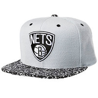 The Brooklyn Nets In The Stands Snapback Cap in Grey & Black