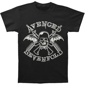Avenged Sevenfold Men's  AVS In Battle Mens Regular T T-shirt Black