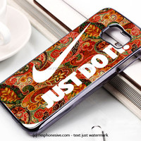 Autumn Paisley Pattern Nike Just Do It Samsung Galaxy S6 and S6 Edge Case