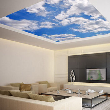 Ceiling STICKER MURAL sky clouds cupola dome airly air decole poster