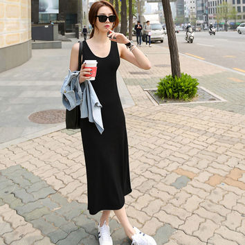 Fashion casual Sleeveless modal women's skirt