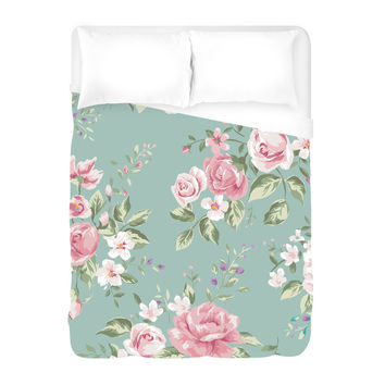 Flowers for Mom Duvet Cover