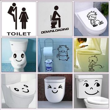 waterproof bathroom toilet sticker door glass stickers wall decal 314 home decoration vinyl art pvc posters 5.5
