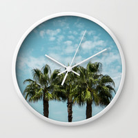 Good vibes. Landscape Wall Clock by VanessaGF