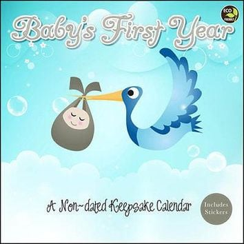 Baby's First Year Undated Wall Calendar, Baby by TF Publishing
