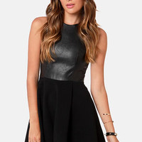 Rebel Epoque Black Vegan Leather Dress
