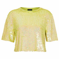 ALL OVER SEQUIN TEE