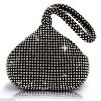 Abshoo Women Evening Clutch Bags Luxury Crystal Party Wedding Ball Handbags Small Banquet Clutch Purse