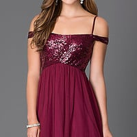 Short Homecoming Dress D62951TRX with Sequin Bodice