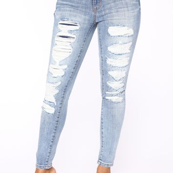 Ora Skinny Jeans - Light Blue Wash