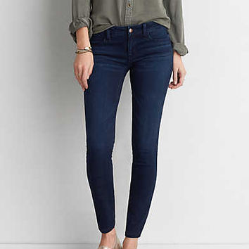 AEO Denim X Super Low Jegging, Bruised Indigo