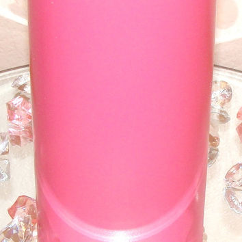 Hot Pink Glass Vase, Pearl Vase, Baby Shower Centerpiece, Wedding Centerpiece, Bridal Vase, Home Decor, Floral arrangement, Quinceanera