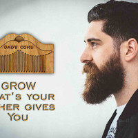 Personalized Beard Comb Wooden Moustache Shaped Beard Comb Custom Engraved Gift Fathers Day Gift Gift for Him Husband Gift Friend Gift