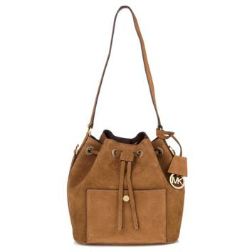 Michael Kors Brown Suede Bucket Bag